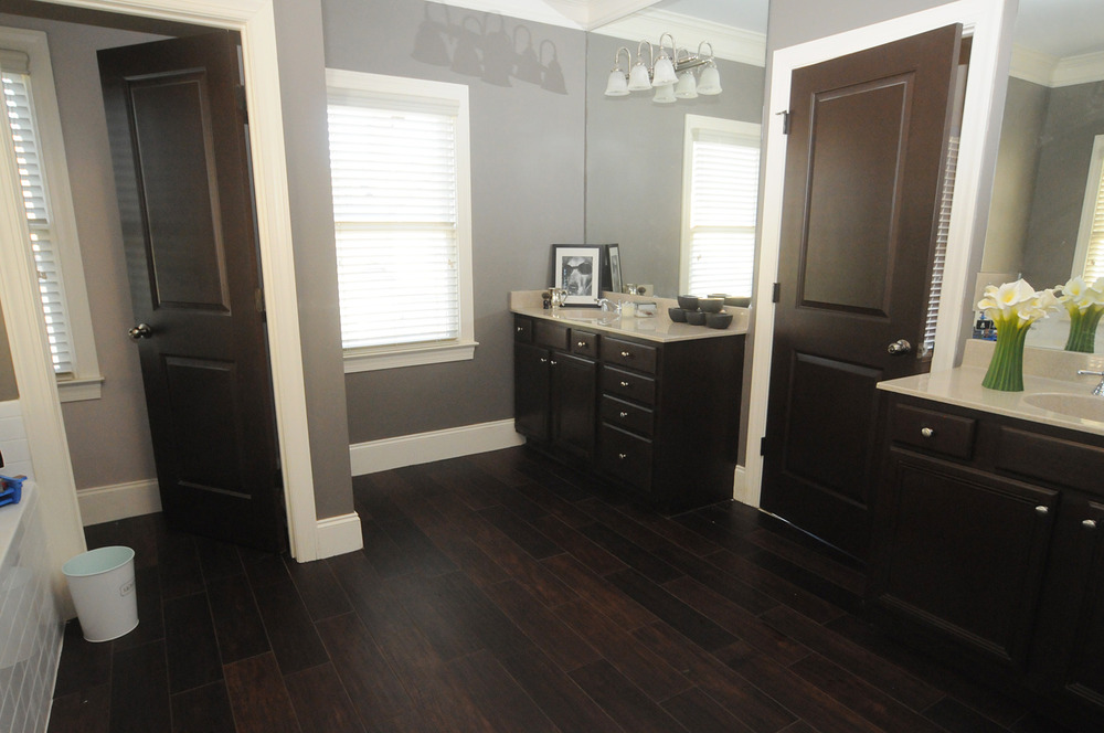 Introducing the new master bathroom the shooting allens Bathroom ideas wooden floor